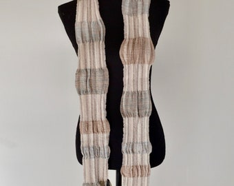 Hand-Woven Angora and Merino Natural Dyed Scarf