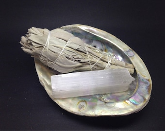 Smudge Kit White Sage,  Shell &  Selenite SCS01