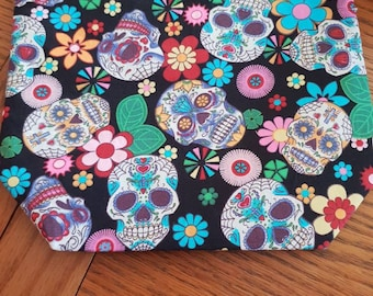 Sugar Skulls Lined Project bag