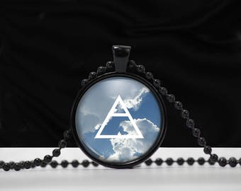 Air Element Sign Pendant - Air necklace - Element jewelry -  A0004