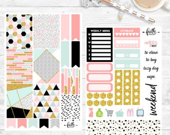 Girl Boss Planner Stickers - A perfect kit for your Erin Condren Lifeplanner™, Happy Planner, and many others!