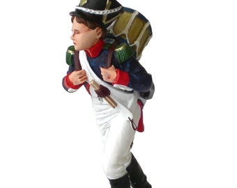 90mm scale Painted Napoleonic Drummer Boy Metal Miniature - ED-TR01P