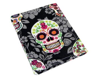 Day Of The Dead Wallet, Womans Wallet, Front Pocket Wallet, Credit Card Holder, Credit Card Wallet, Wallets For Women, Sugar Skull Wallet