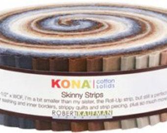 Kona Cotton Solids 1.5-inch Strips Roll-Up - Neutrals - Robert Kaufman SS-108-41