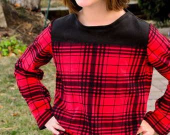 Jersey Tee and Dress Children's Sewing Pattern: The Game Day Jersey sizes 2  to 10 (Digital Download)