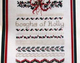 Deck The Halls By Charland Designs, Inc. Vintage Cross Stitch Pattern Packet 1996