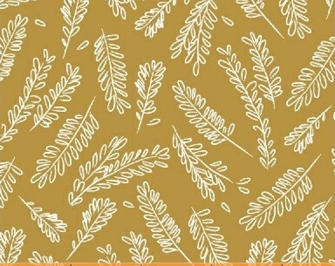 CUCINA - Herbs in Gold - Kitchen Cotton Quilt Fabric - by Victoria Johnson for Windham Fabrics - 42612-6 (W4693)