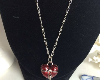Valentine prayer/wish box necklace