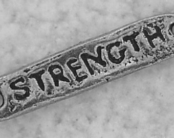 Green Girl Studios Pewter Strength Link