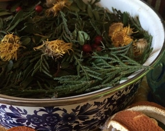 Potpourri  Handcrafted Balsam Berry and Rosehip Potpourri w/ Pure Essential Oils by The HeartsEaseHome