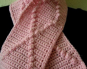Crochet Pattern PDF for Breast Cancer Awareness Scarf