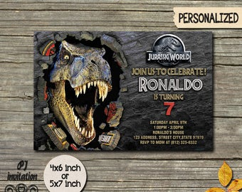 Jurassic World Invitation Jurassic World Party Jurassic