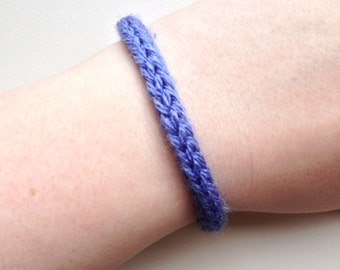 Handmade bracelet, knitted bracelet, yarn bracelet, purple bracelet, knit bracelet, knit jewelry