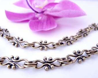 50 cm chain fancy links 20 mm x 9 mm and 17 mm x 7 mm, bronze (CC0206)