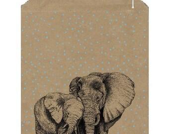 50 large kraft bags for packaging - Packaging Elephants in Brown Kraft for a nice packaging