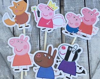 Cupcake Toppers - Peppa Pig,INSTANT DOWNLOAD,Peppa Pig Birthday Party,Printables,Peppa Pig Party,Peppa Pig Theme Baby Shower,Birthday Party