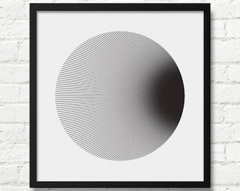Geometric, Minimalist Print, Optical Illusion Art, Black And White, Square Print, Op Art, Modernist, Optical Illusion, Modernist Print