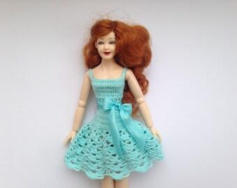 Dollhouse miniature dress for Heidi Ott doll