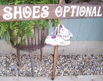 Wedding Signs LARGE SHOES OPTIONAL wood rustic  1 Stake beach decorations country mr and mrs signage reception baby bridal shower ceremony