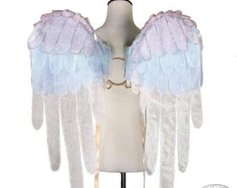 Princess Celestia Glitter Organza Pegasus Wings - My Little Pony - Friendship is Magic - Wearable Art Wings, Costume, Cosplay