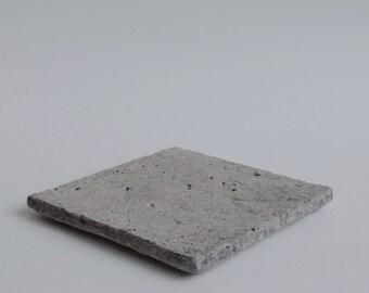 Square Carved Plate, 'Whitewash & Clear Glaze,' MI_176