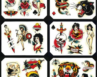 Tattoo Flash Set 11 by Brian Kelly.  6 Sheets