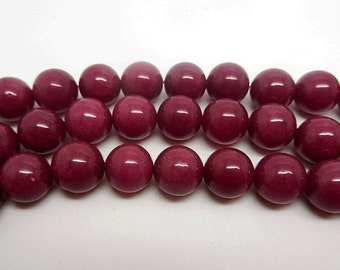 "15""  Rose Jade   Round  Bead  Gemstone --8MM 10mm"