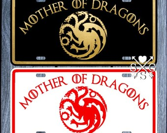 Game of Thrones Mother Of Dragons License Plate Car Tag