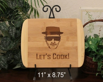 Breaking Bad Cutting Board, Let's Cook, Heisenberg, Walter white, Laser Engraved, Cheese Board, Bar Board, Chopping Block, Gift for Him