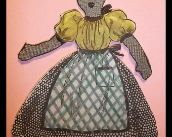 "Black Americana - Vintage Black Doll Pattern - Mandy 18"" Tall - Pattern Includes Doll - Clothes - Shoes - Instant Download"