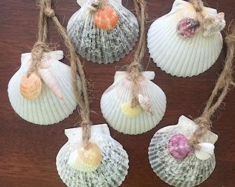 Set of 6 Sea Shell Ornaments