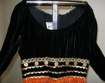1970's Gypsy Coin Dress