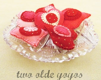 SMALL HEARTS, TUCKS,  Bowl Fillers, Set of Six,  Valentine,  Seasonal Home Décor, Hostess Gift, Party Decor, Table Decor