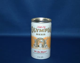 Vintage Olympia Little Oly Beer Aluminum Can Pull Tab Olympia Brewing Company Tumwater Barware Bar Memorabilia Breweriana Collectible