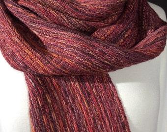 Fashion scarf Alpaca Silk autumn colors lightweight narrow AS007