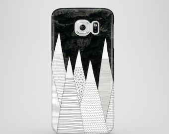 White Peaks phone case / mountain illustration phone case Samsung Galaxy S7, Samsung Galaxy S6, Samsung Galaxy S6 Edge, Samsung Galaxy S5
