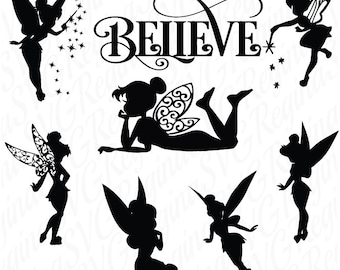 Tinkerbell svg, Tinkerbell clipart, Tinker Bell svg Disney files silhouette, digital svg , files for Silhouette, png,dxf,Eps, Instant