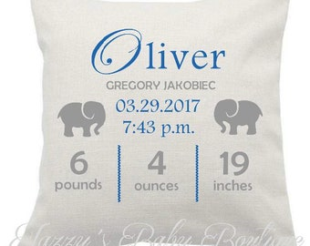 Custom Linen Baby Pillow