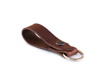 Leather Keyring, Keyring, Brown Keyring, Brown Leather Keyring, Brown Leather Keyring, Loop  Key Holder,  Leather Key Holder,  Key Fob, UK