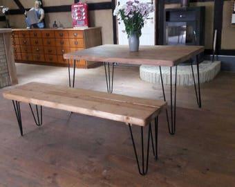 Trendy Design Hairpin Legs Esstisch Auf Ma Haarnadel Retro Tisch Holz  Metall With Tisch Holz Metall