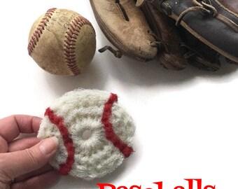 Baseball Scrubbies,Softball Pot Scrubbers,You Choose 2 - 8 Nylon Baseball Dish Scrubbies, Father's Day, World Series,Double Layered, For Him