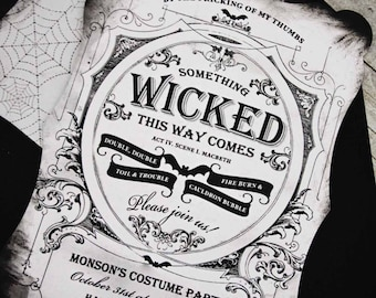 Something Wicked Personalized Invitation by Loralee Lewis