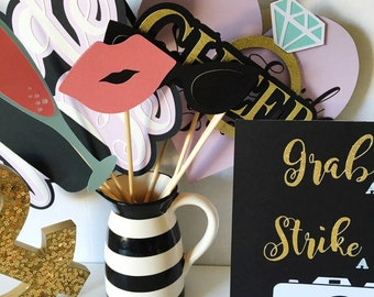 Bridal Shower Photo Booth Props | Photo Booth Props | Engagement Party Photo Booth Props | Wedding Photo Booth Props | lavender wedding