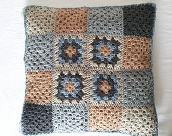 Crochet cushion cover, granny squares, cushion cover, crochet