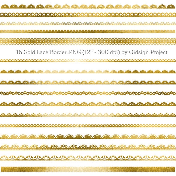Gold lace border clipart gold border for scrapbooking wedding
