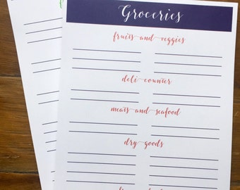 Grocery Store Notepad - Grocery List - Mom Gift