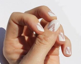 White Boho Nail Wraps