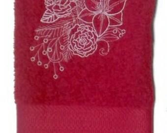 Christmas hand towel - Christmas embroidered towel - Christmas Spray  - Christmas Decoration