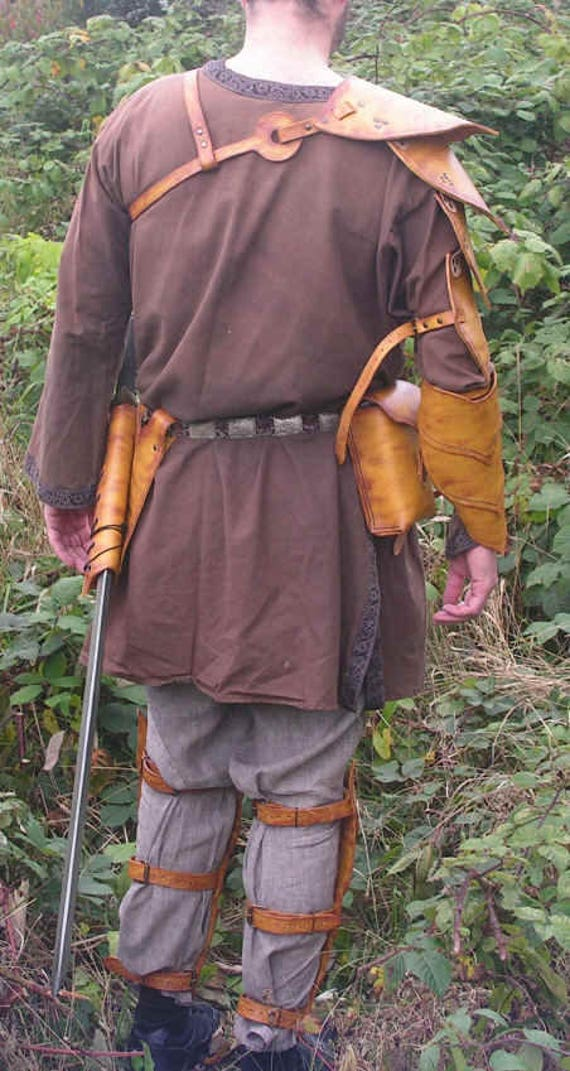 Brown Wood Elf, Ranger, Warden, Right Arm Bracer, LARP, Role Play