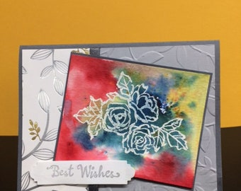 Best Wishes Roses Card